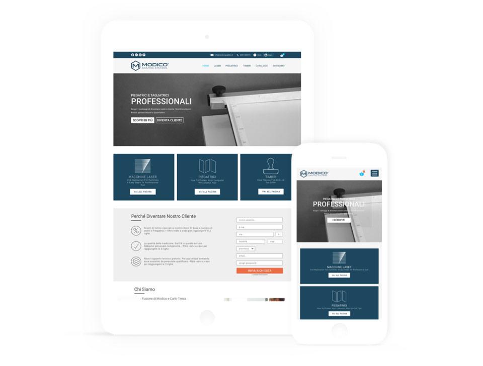 Modico Graphics Online Shop Development and Design