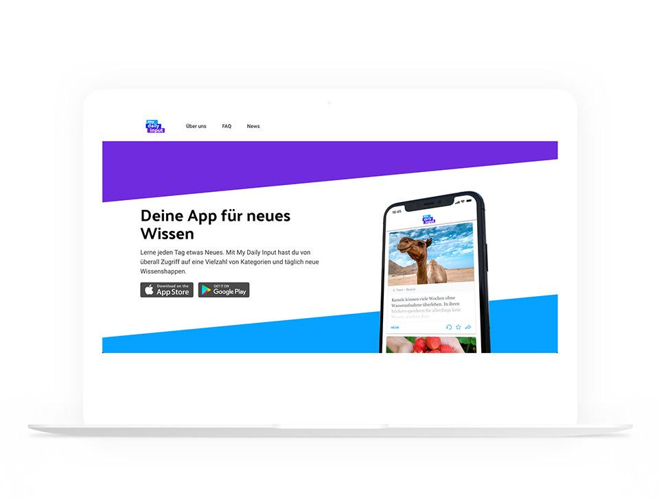 My Daily Input - WordPress Website
