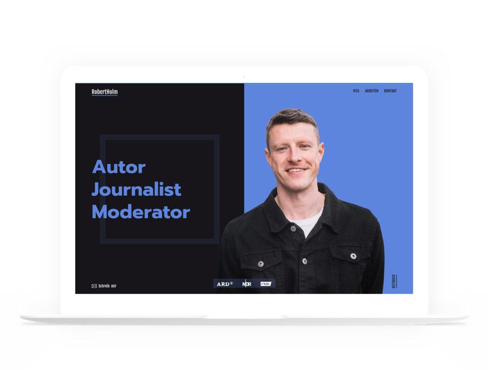 Robert Holm Portfolio Website Design and Development